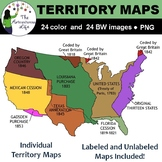 United States Territory Maps Clip Art