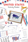 Patriotic United States Themed Activity Packet