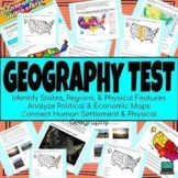 United States U.S. Geography Test (Google Form Assessment)