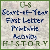 United States (US) History First-Letter Printable - Great
