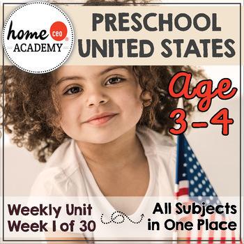 USA United States Preschool Unit - Try It DOLLAR DEAL