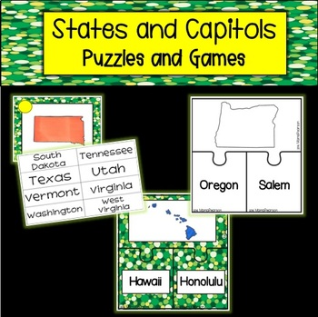 United States and Capitols Puzzles and Games