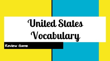 United States Vocabulary Review