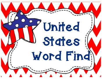 United States Word Find