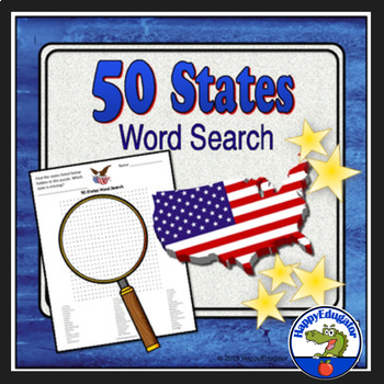United States Word Search Puzzle