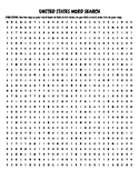 United States Word Search with Map-Great for Emergency Sub Plans!