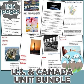 United States & Canada Geography Unit  *Unit Bundle*