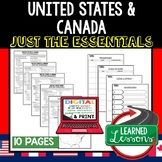 United States and Canada Outline Notes JUST THE ESSENTIALS Unit Review