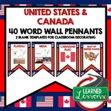 United States and Canada Word Wall (World Geography)