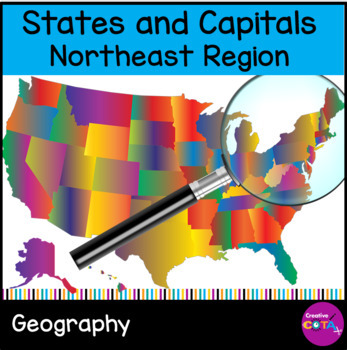 United States and Capitals Differentiated: Northeast Region