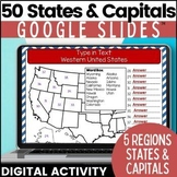 50 States and Capitals Google Drive Classroom Resource | D
