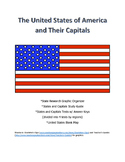 United States and Capitals Tests and Activities