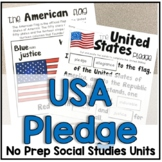 United States and Texas Pledge of Allegiance Cut and Paste Activity
