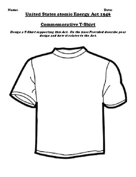 United States atomic Energy Act 1946 T-Shirt Design Assignment