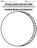 United States of America $1 Coin Worksheet W/Currency Word Search