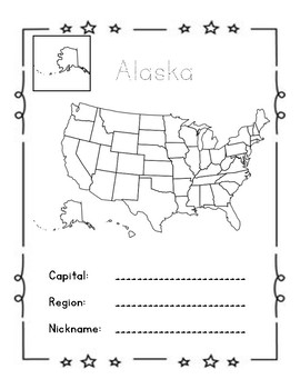 United States of America 50 States Book