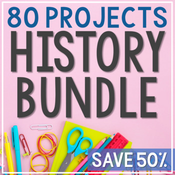 HUGE USA Bundle, Interactive Notebook, Presidents, State Map Posters