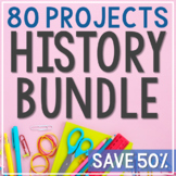 American and World History Bundle, Interactive Notebook Activities and Projects