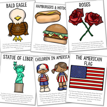 United States of America Country Study Mini Book, Coloring Pages, Activities