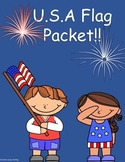 United States of America Flag Packet