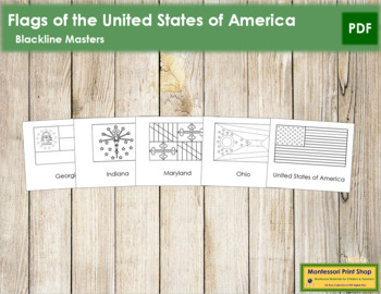 United States of America Flags: Outlines