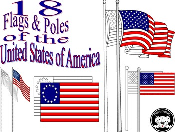 Flags and Poles ~ United States of America