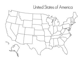 United States of America Map -Montessori