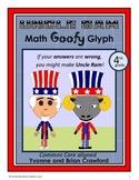 USA Math Goofy Glyph (4th Grade Common Core)