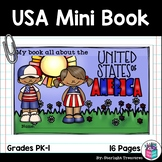 United States of America USA Mini Book for Early Readers -