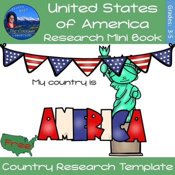 United States of America - Research Mini Book - FREE Version