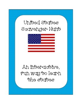 United States of America State Scavenger Hunt Set 2; Inter