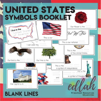 United States Of America Symbols Booklet Blank Lines By Melissa Schaper