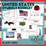 United States of America Symbols Booklet-Blank Lines