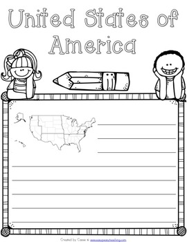 United States of America Symbols Notebook
