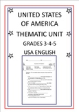 United States of America Thematic Unit - Grades 3-4-5 - US English