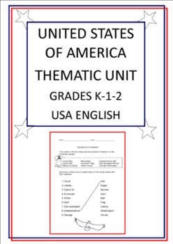 United States of America Thematic Unit - Grades K-1-2 - USA English