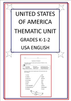 United States of America Thematic Unit - Grades K-1-2 - USA English