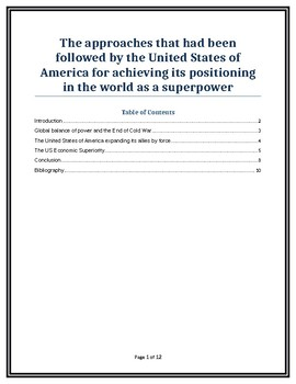 United States of America superpower
