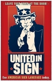 United in Sign. an ASL poster