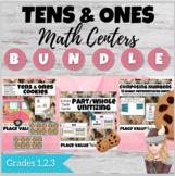Unitizing & Early Place Value Bakery Bundle! Tiny Ten Frames, Task Cards, Sorts