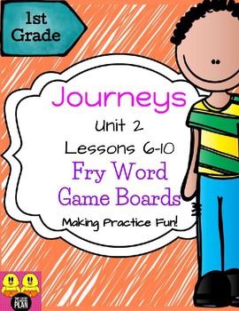 BUNDLE: Units 1-3 Journeys Fry Word Game