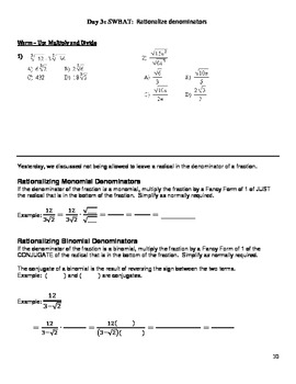 Units #1-4 Algebra 2 Trigonometry (Functions, Radicals, Inequalities, Rationals)