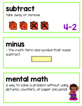 Units 1-7 Ready Math Vocabulary Cards for Kindergarten BUNDLE