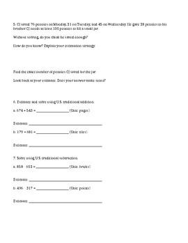 Units 1-8 EDITABLE Test Reviews / Answer Keys - 4th Grade Everyday Math / EDM 4