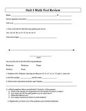 Units 1-8 Test Reviews and Answer Keys - 6th Grade Everyday Mathematics / EDM 4