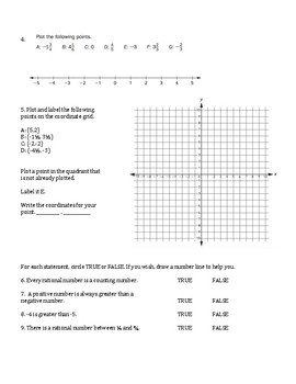 Units 1-8 Test Reviews and Answer Keys - 6th Grade Everyday Mathematics / EDM 4