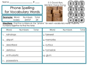 Units 5, 6 Vocabulary/Spelling