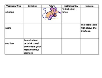 Units 5/6 Vocab Charts for 3rd Grade Reading Street Common Core Edition (2013)