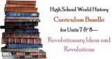 Units 7-8 Curriculum Bundle for World History (Enlightenment & Revolutions)