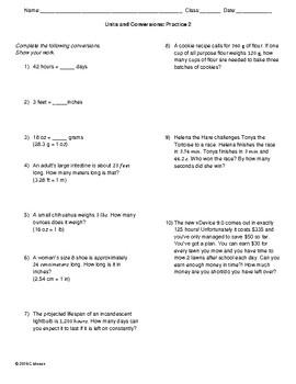 Practice Bundle: Conversions, Scientific Notation, Prefixes